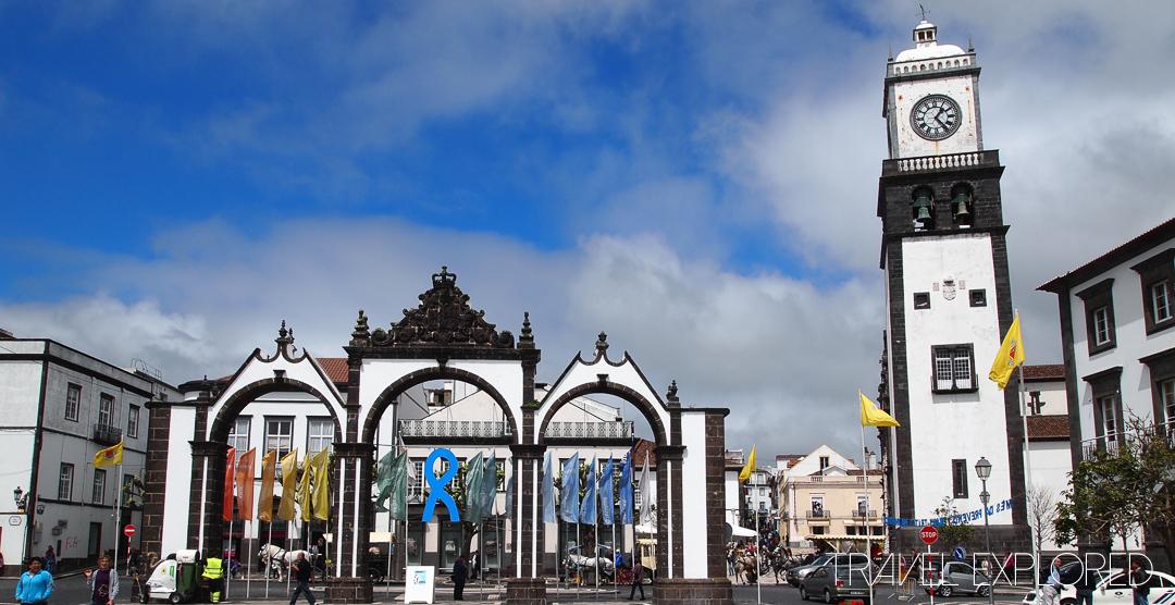 Ponta Delgada - Main Square, Old Town Gates & Church