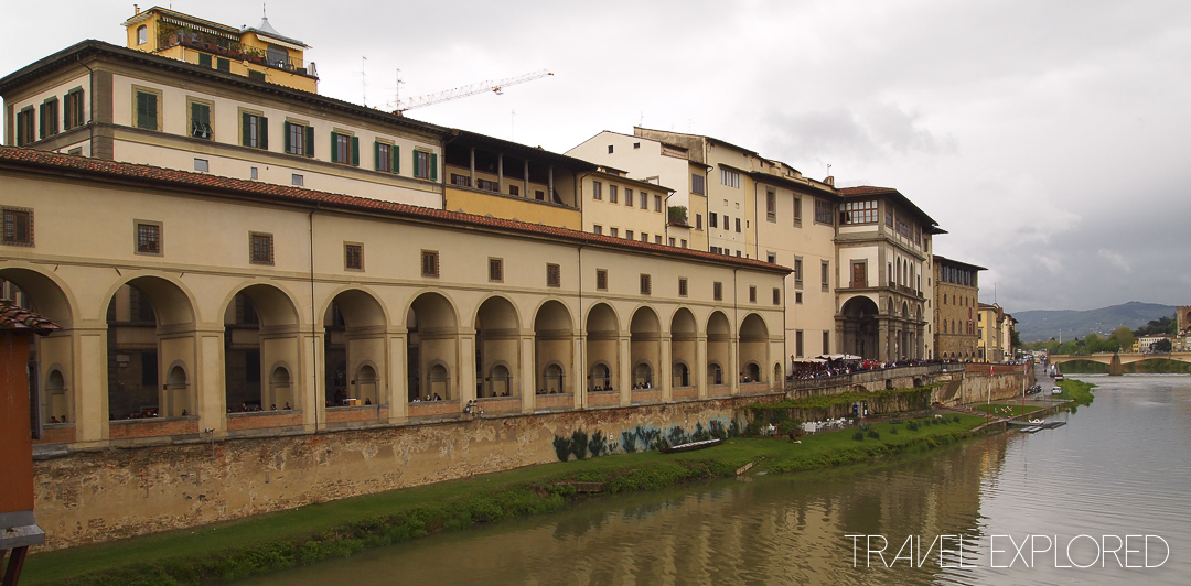 Florence - Waterfront view from Ponte Vecchio
