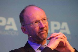 European Commission, Deputy Director General MOVE, Matthew Baldwin speaking at CAPA aviation summit in Amsterdam, October 27 2016