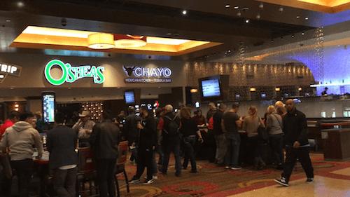 "Not far from the lobby, the ""Irish"" casino."