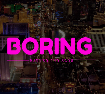 Las Vegas Boring Company - manned and slow operations