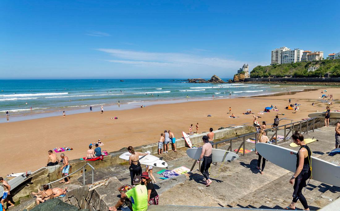Cosa vedere a Biarritz le spiagge e le onde per il surf