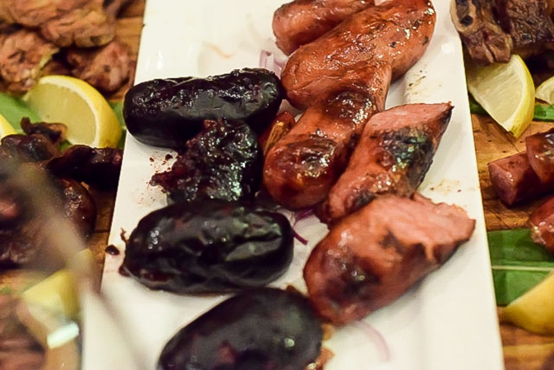 sausage and blood sausage at Steaks by Luis