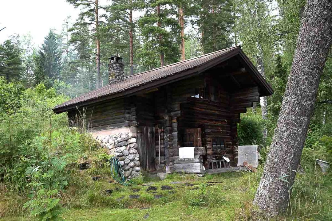 An old smoke sauna in Finland