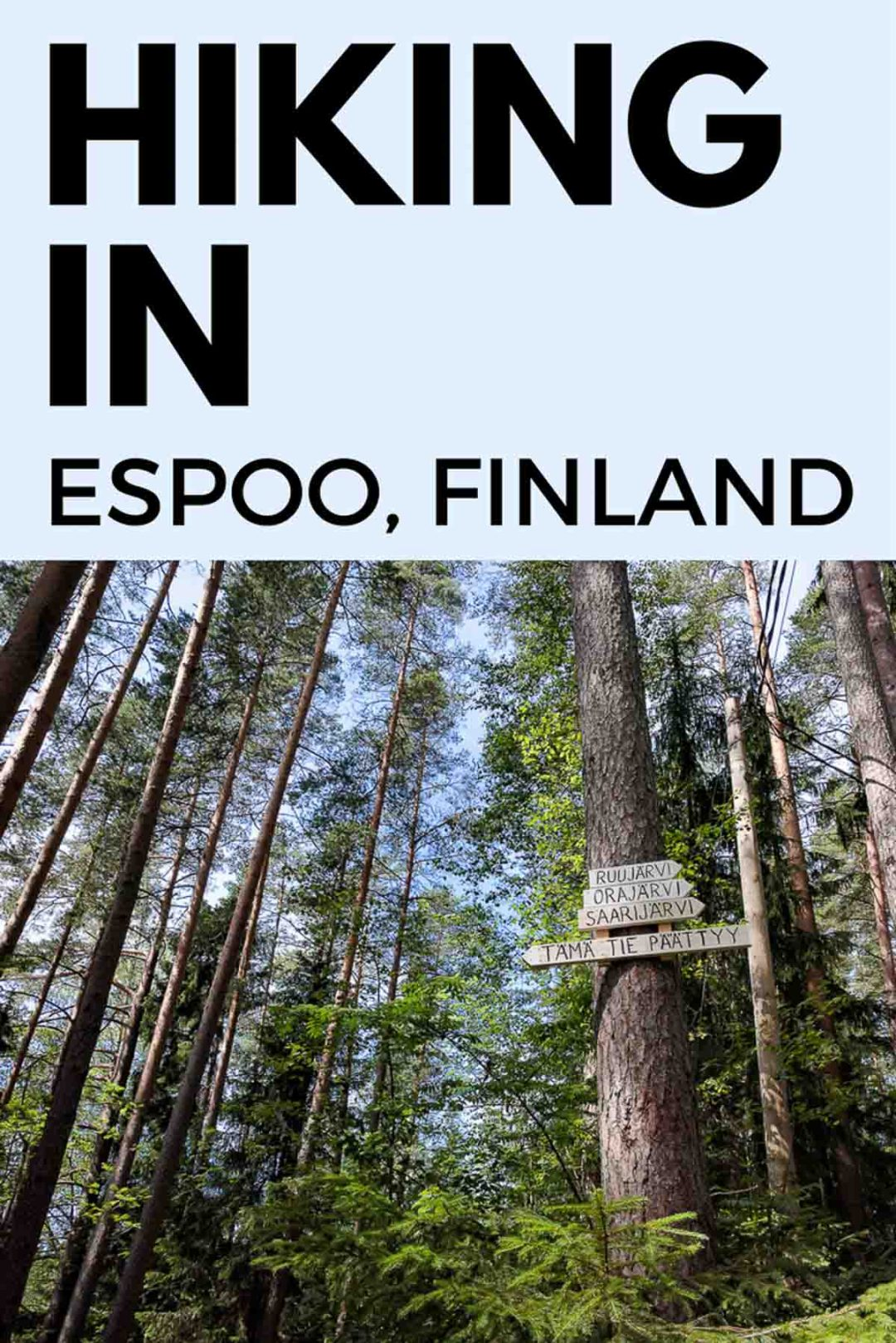 Hiking in Espoo, Finland