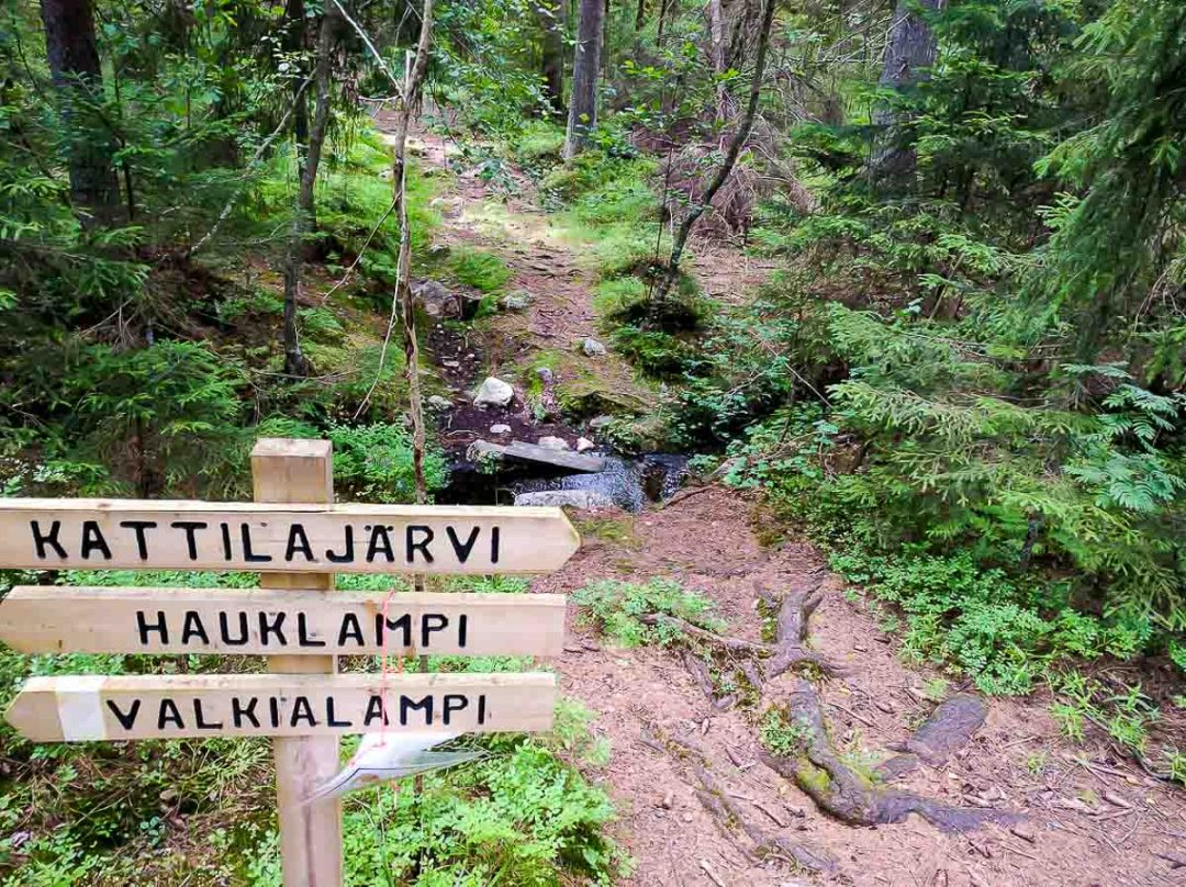 sign in Finnish in the forest
