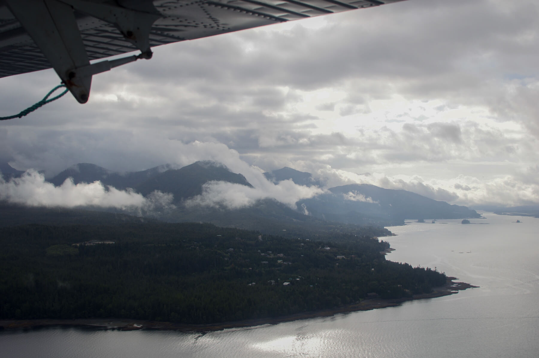 View of Alaska's coast line by Float Plane