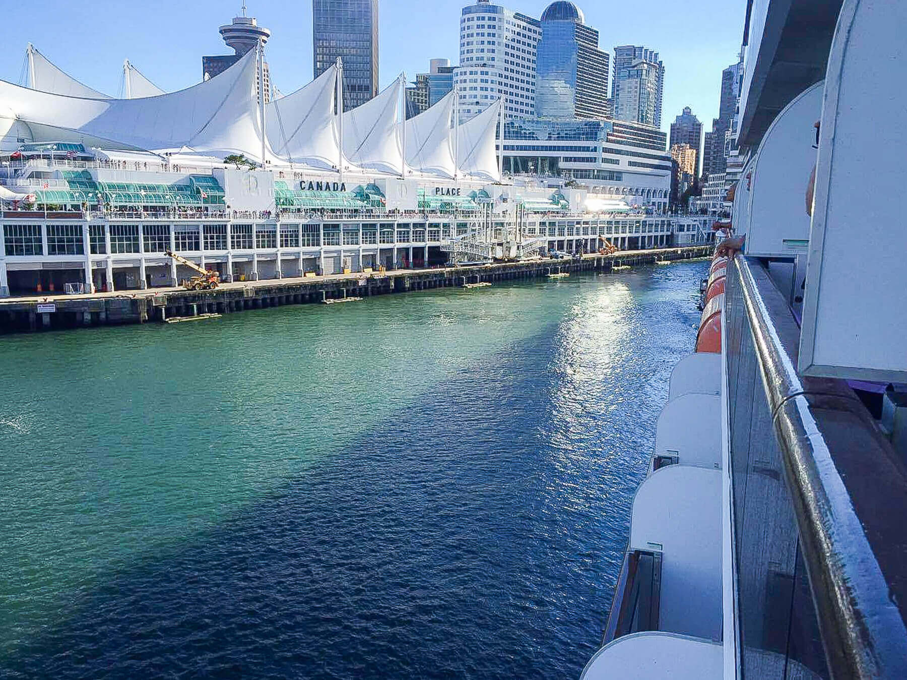 View of Canada Place from Cruise Ship
