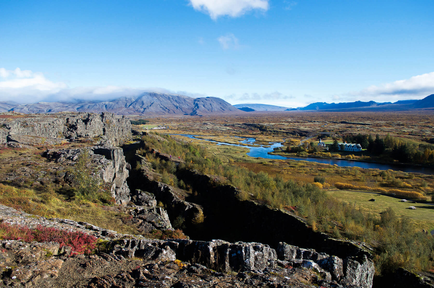 Pingvalir national park southern iceland