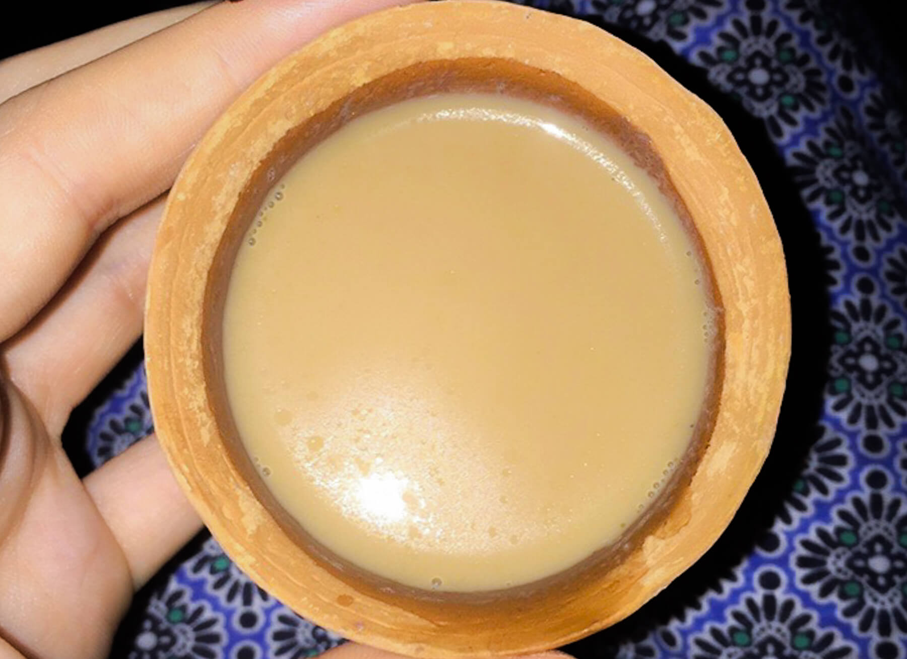 Indian Masala Chai Tea in Terracotta Cup