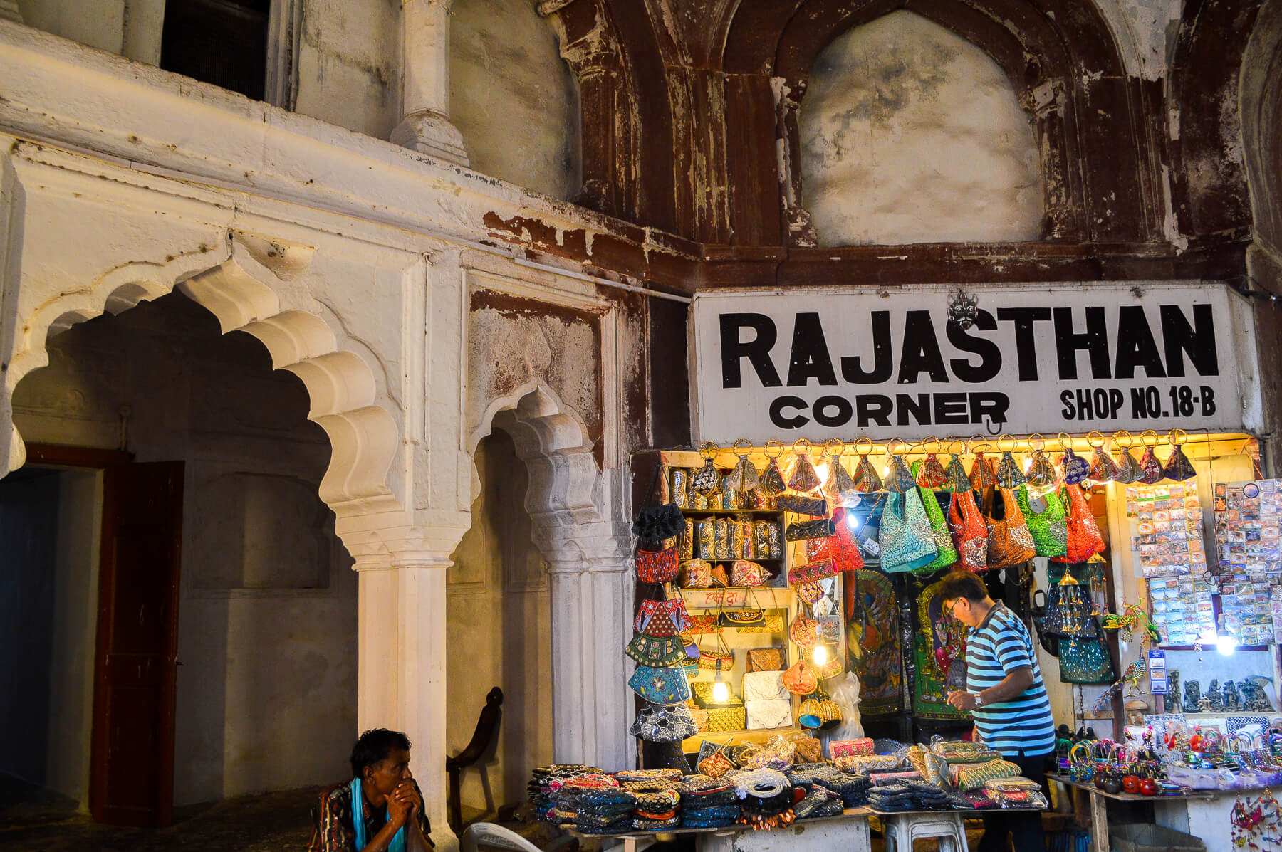 Indian shop called Rajasthan Corner