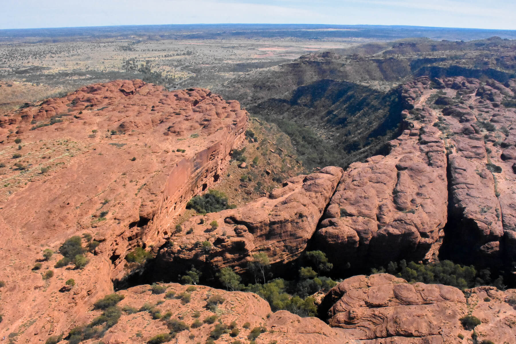 View of Kings Canyon from a Helicopter