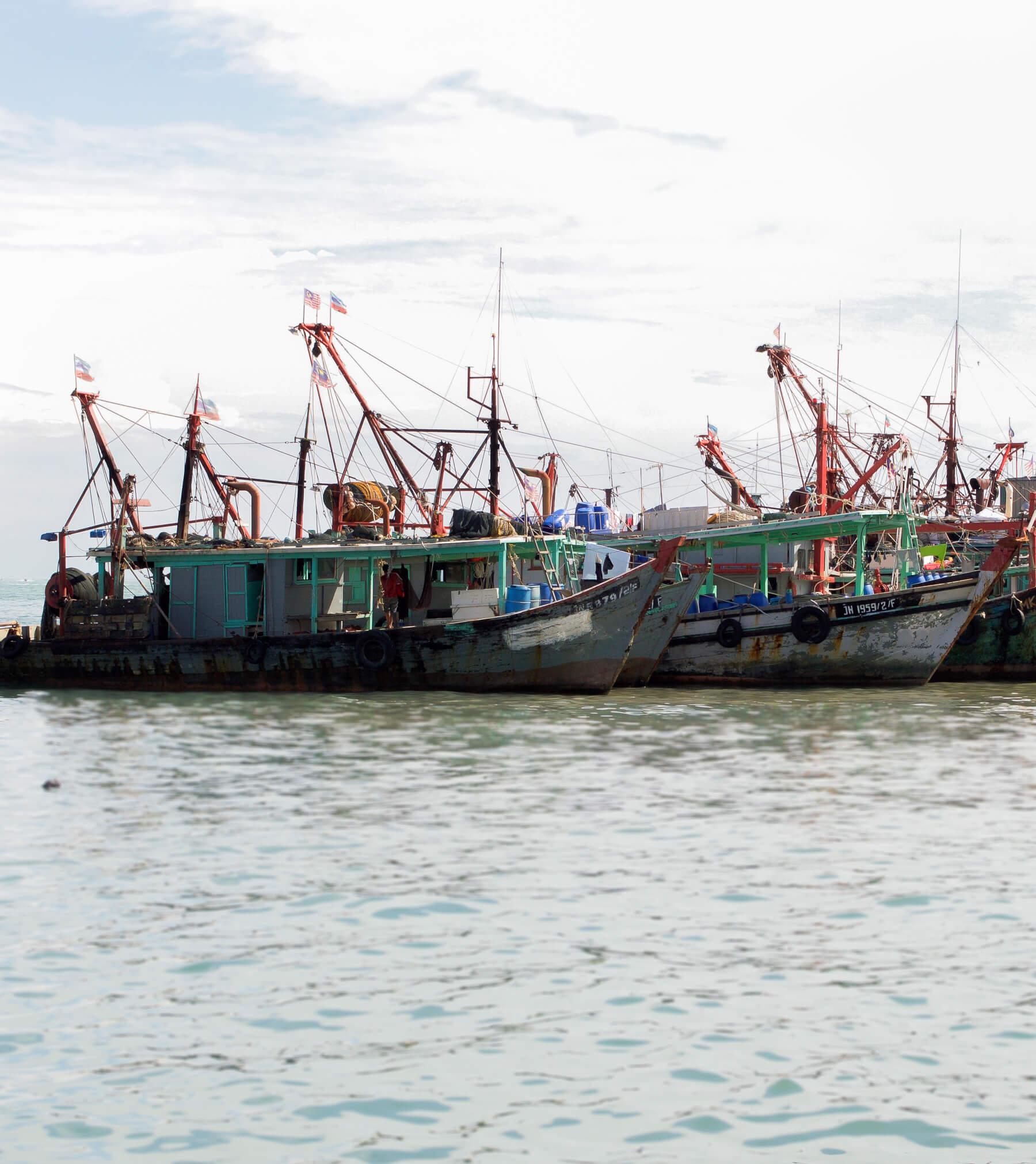 Fishing boats off the shore of Kota Kinabalu