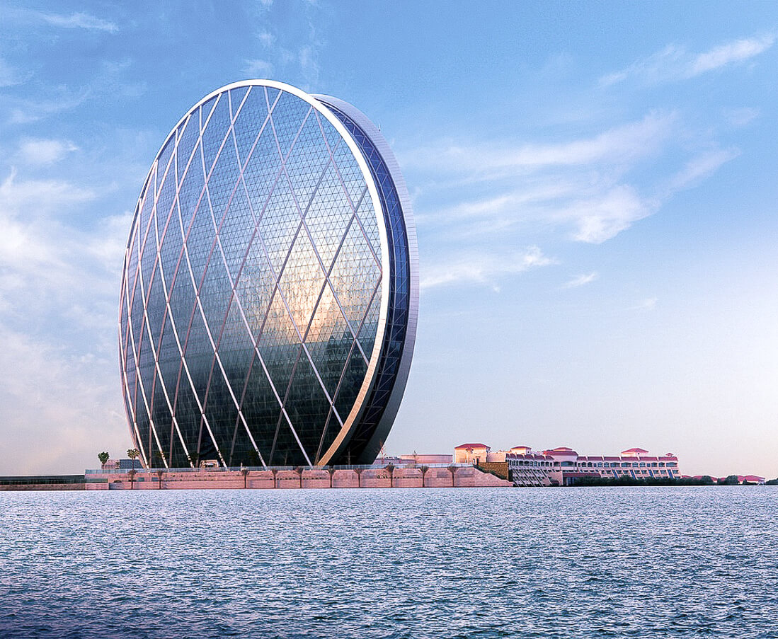 Ultra modern circular building on the waterfront - Aldar Headquaters