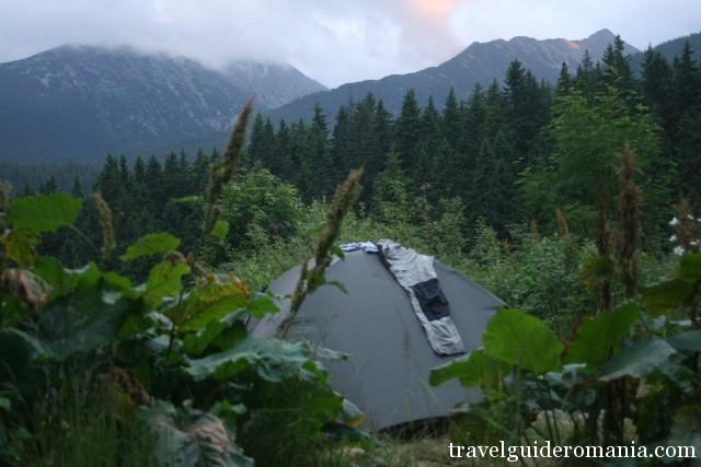 camping site near Pietrele lodge