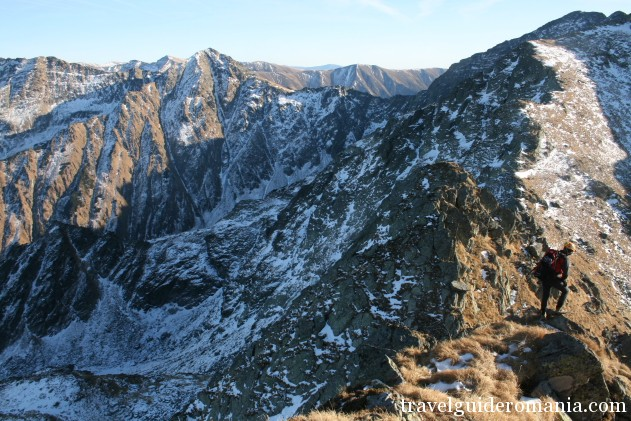 climbing route at Tunsului ridge