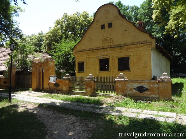 traditional house in Banat folk area