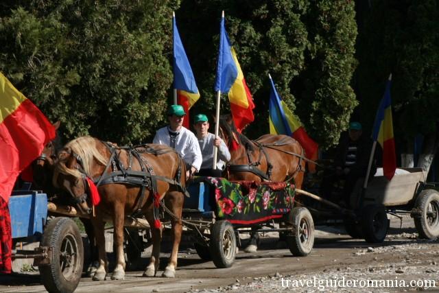 Manifestari traditionale in zona rurala a Romaniei