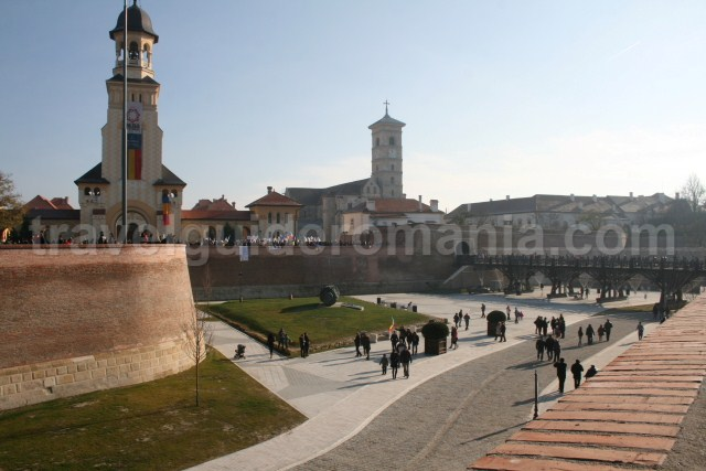 Main bridge acces in Alba-Iulia Carolina Fortress