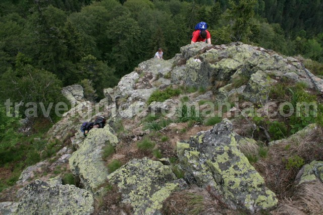 Climbing on Bohodei waterfall route - Apuseni mountains