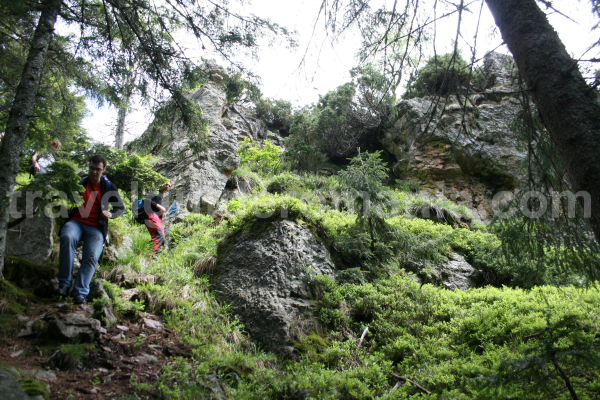 Descending to Bohodei waterfall
