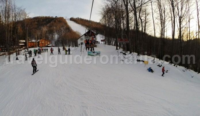 Upper side of the slopes at Suior ski resort