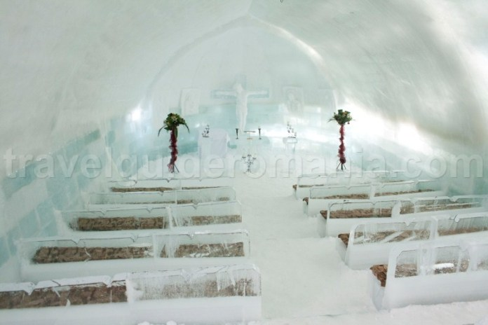 Ice church at Balea Lac - Fagaras Mountains
