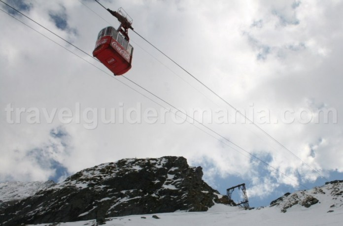 going at Balea Lac with the cablecar