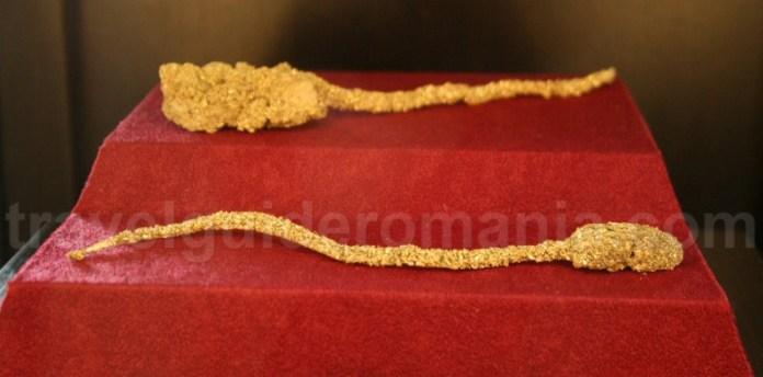 Minilamele din aur - Soparla de la Muzeul Aurului
