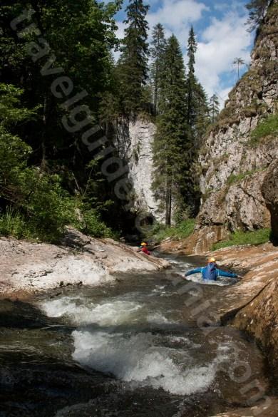 Body rafting in Muntii Apuseni