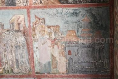 Pictura din secolul XV cu imaginea bisericii de la Manastirea Neamt