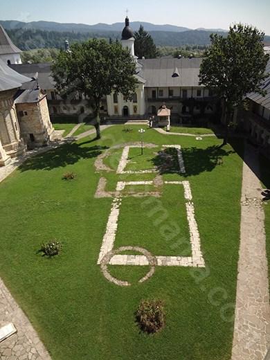 Visiting tower of Neamt Monasery - Romania
