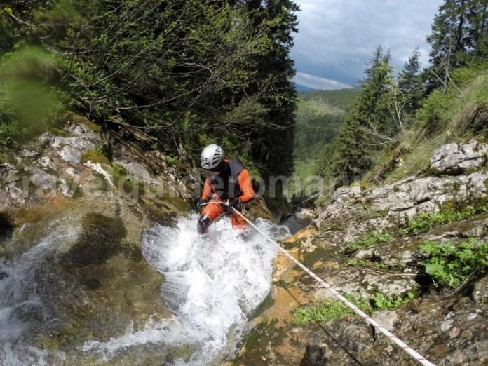 Prima cascada din Canionul Cailor - Maramures