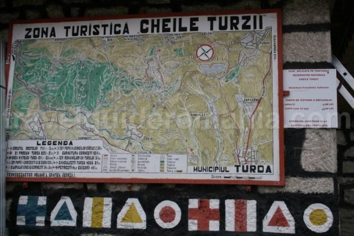 Zona turistica Cheile Turzii - marcaje turistice