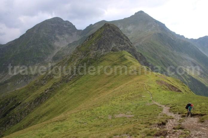 Drumetie pe traseul crestei principale a muntilor Fagaras - Varful Ciortea si Varful Garbova