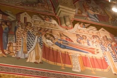 Picturi interioare in biserica de la Putna - Moldova