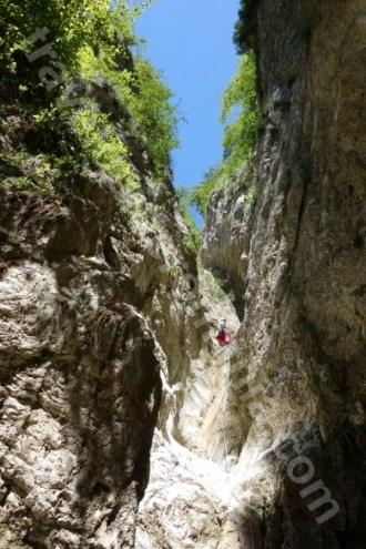 Cascade uscate in canionul Oratii