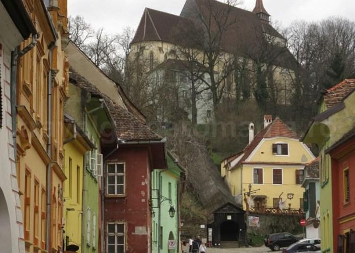 unesco cetatea medievala sighisoara scara acoperita