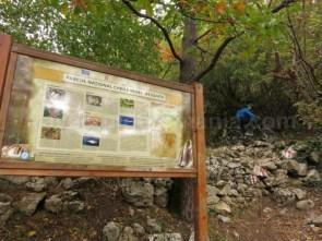 Parcul National Cheile Nerei-Beusnita panou bicicleta