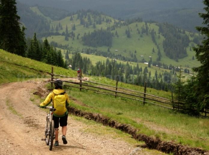 Destinația ecoturistică Țara Dornelor bicicleta