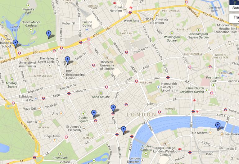 european trip planner map google maps