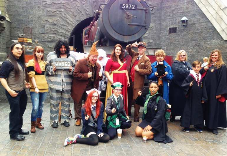 cosplaying at wizarding world