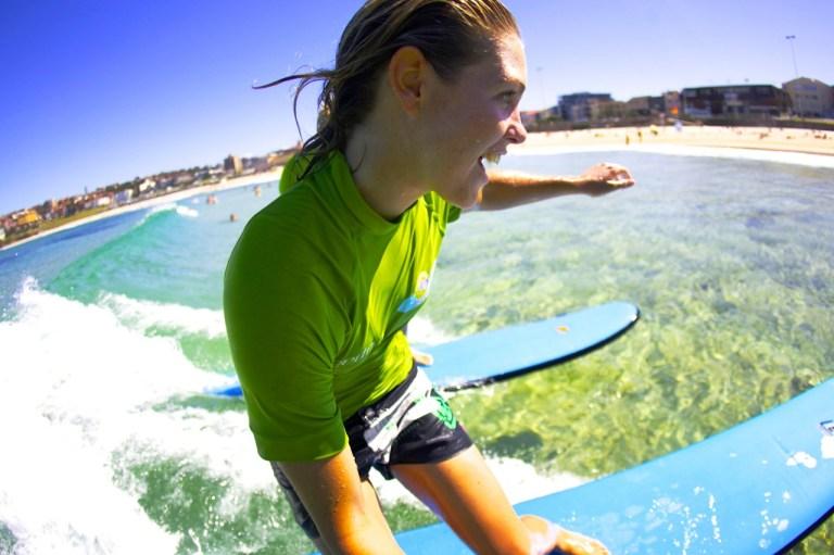 Lets' Go Surfing surf school in Bondi Beach