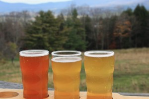 Beer with a View at Trapp Lager Brewery, Stowe, Vermont