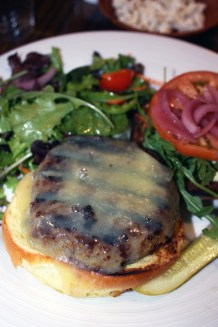 Burger at Crop Bistro in Stowe