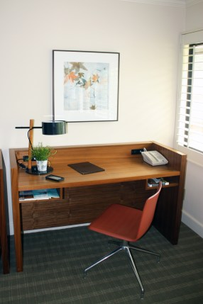 Desk in the Room at Topnotch Resort, Stowe, Vermont