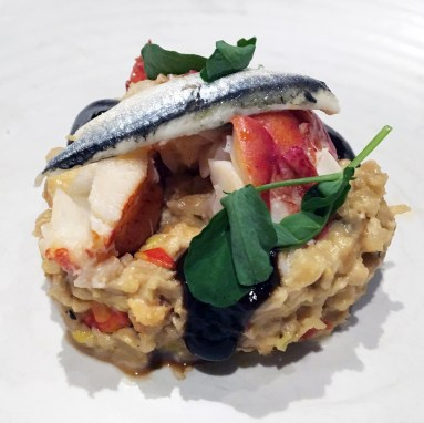Lobster Tempeh Risotto, Hotel Vermont