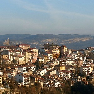 View onto the centre of the old town of Veliko Tarnovo in Bulgaria