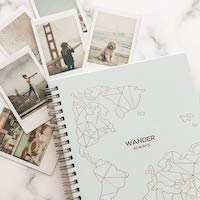 """Wander Always"" Travel Planner and Vacation Journal for Women"