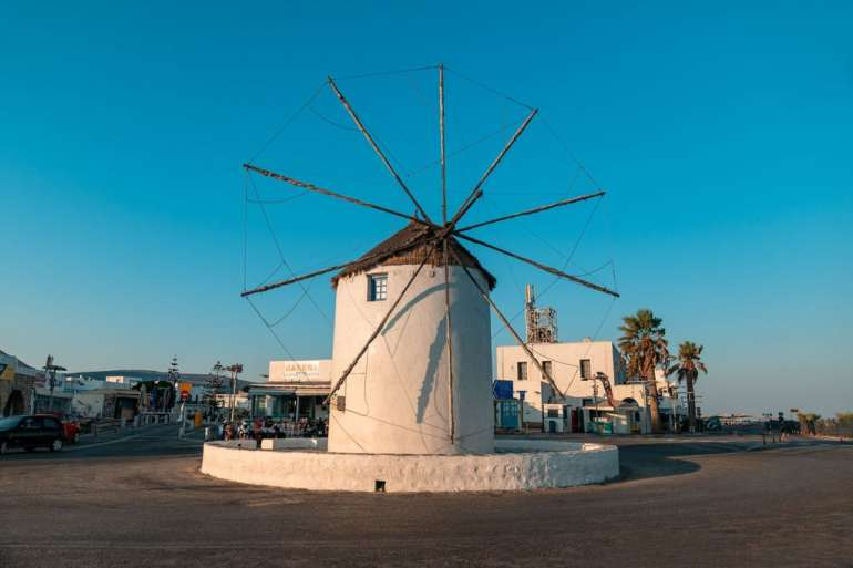 Windmill Parika Paros Greece